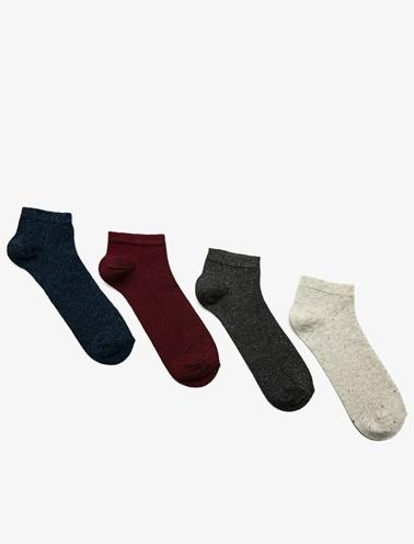 Koton 4'lü Erkek Çorap Gri